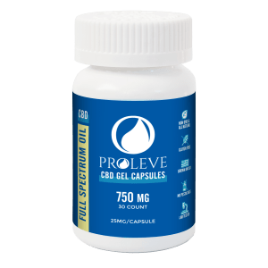 25mg Full Spectrum CBD Capsules 30 count | Proleve CBD