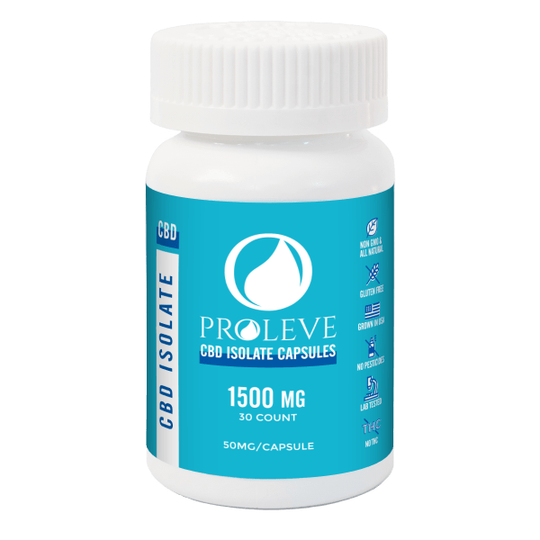 Isolate CBD Capsules 30 count 50mg | Proleve CBD