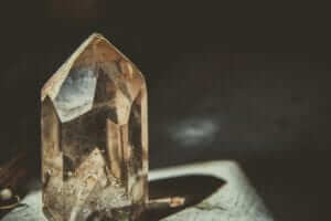 a brownish crystal symbolizing the crystal record keepers of Atlantis and Lemuria