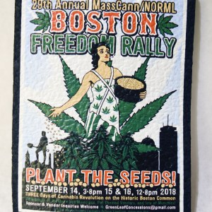 "Mouse Pad Boston Freedom Rally 2018 with motto ""Plant the Seeds"""