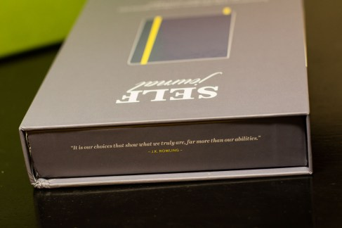 I love this quote on the edge of the box - Best Self Journal Unboxing