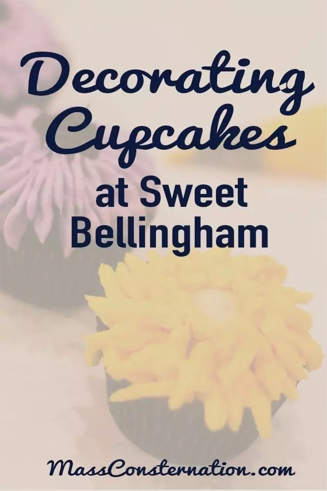 I learned that decorating cupcakes is tricky. Thanks Sweet Bellingham and Yelp for a deliciously fun event. You should try it.