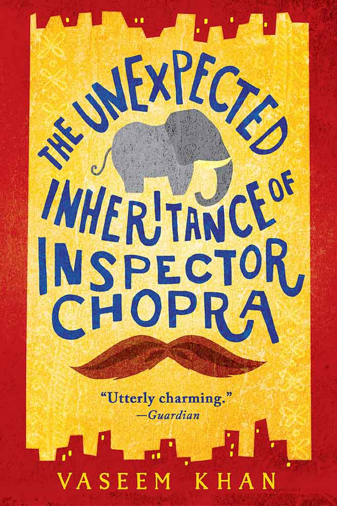 The Unexpected Inheritance of Inspector Chopra by Vaseem Khan is a fluffy fun crime novel set in India and features a side-kick elephant. #BookReview #BritishBooksChallenge18 #Books #CrimeBooks