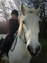 Izzy & Shadow after a flat lesson