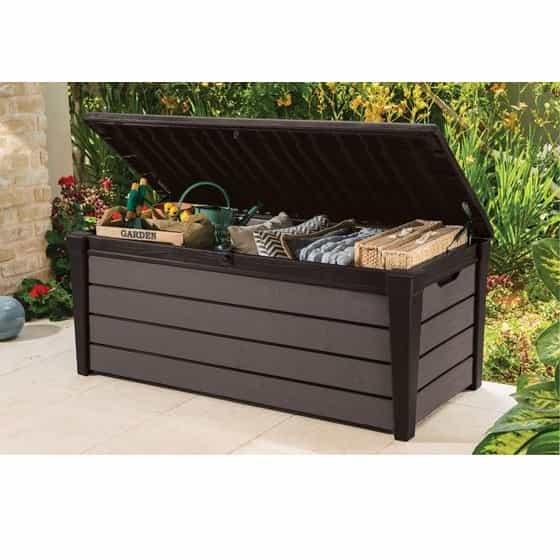 Keter Brushwood Garden Storage Box 455L MASSEYS Derbyshire