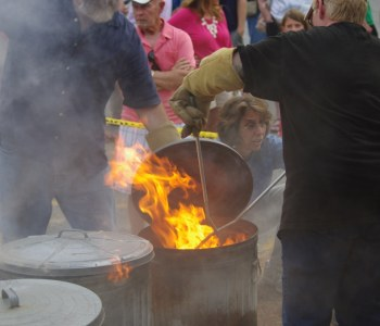 Raku Fire at the Worcester Center for Arts and Crafts