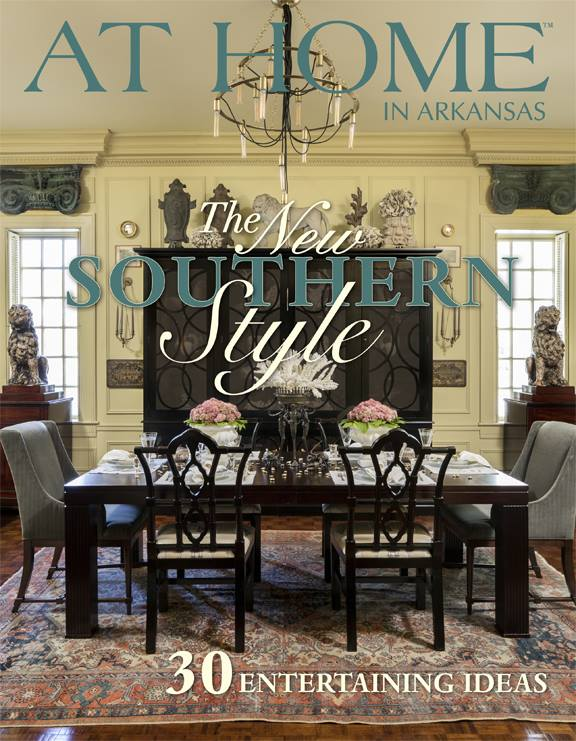 Massimo Interior Design On the cover of At Home in Arkansas     The