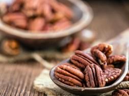 Heap of Pecan Nuts (selective focus)