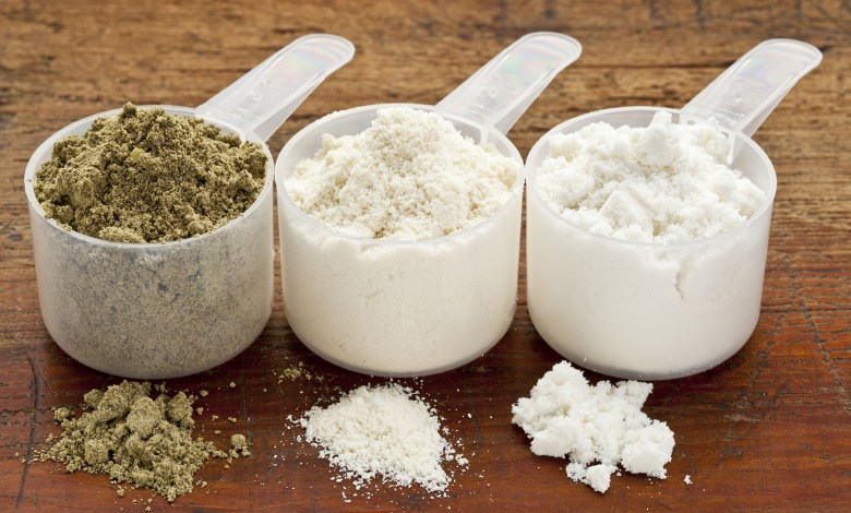 hemp and whey protein powder