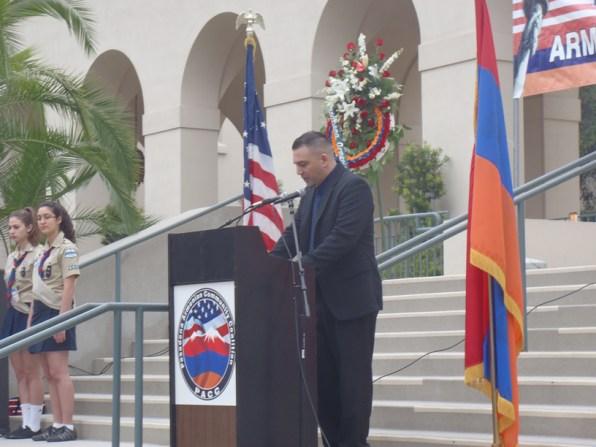 Master of Ceremonies Mr. Yeghia Mazmanian