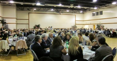 Guests gathered in the Hovnanian Armenian School Banquet Hall
