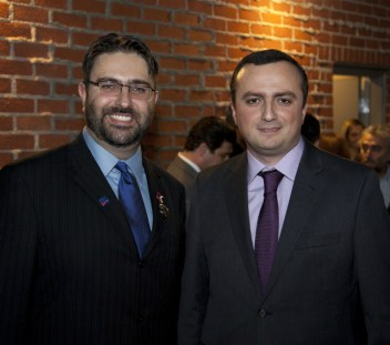 ACA Chair Mr. Sevak Khatchadorian with Robert Avetisyan Permanent Representative of the Nagorno Karabakh Republic to the United States