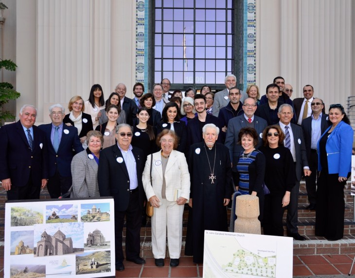 Victory celebration by church supporters following the Coastal Commission hearing