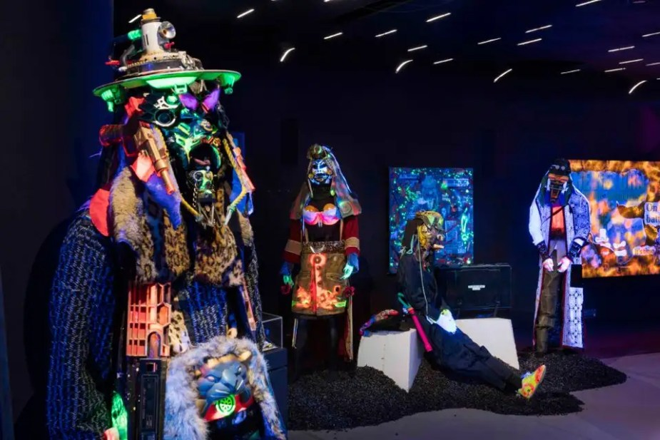 "Exhibition view of ""RAMMΣLLZΣΣ: Racing for Thunder"" at Red Bull Arts New York. Photo courtesy of Red Bull Arts New York"