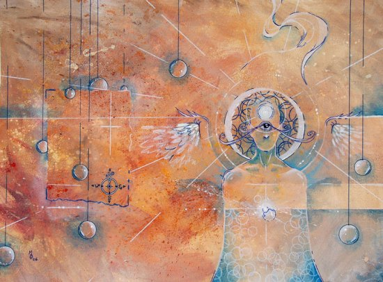 Heavenly Messenger | Original Art by Miles Davis | Massive Burn Studios