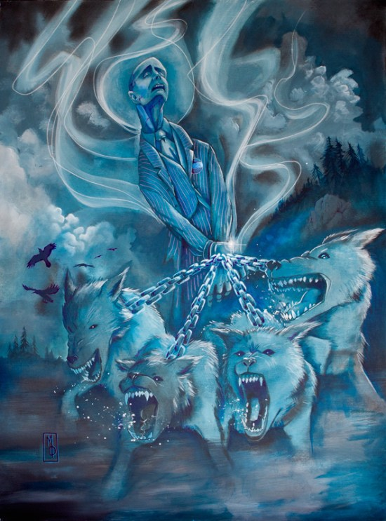 Led by Wolves   Original Art by Miles Davis   Massive Burn Studios