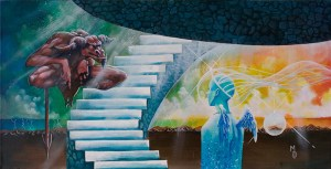 A Meeting Upon Jacob's Ladder | Original Art by Miles Davis | Massive Burn Studios