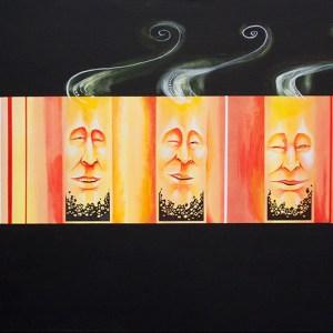 Crumbling Cinder | Original Art by Miles Davis | Massive Burn Studios