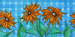 Susans in Plaid | Original Art by Miles Davis | Massive Burn Studios