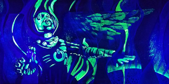 The Wondernaut | Blacklight Art by Miles Davis | Massive Burn Studios