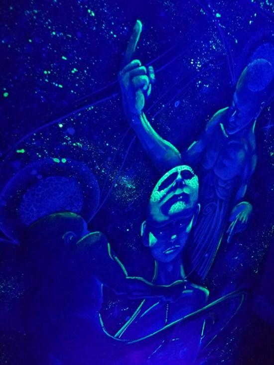 Swirl | Blacklight Art by Miles Davis | Massive Burn Studios