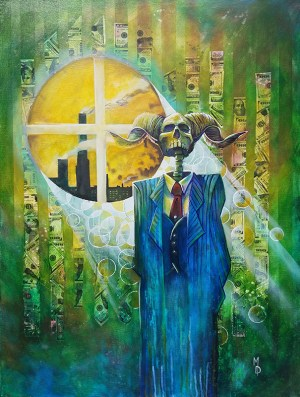 Greed | Original Art by Miles Davis | Massive Burn Studios
