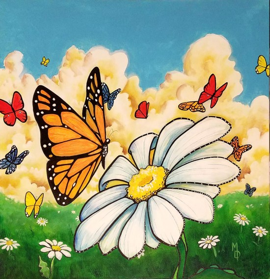 New Beginnings | Original Painting by Miles Davis | Massive Burn Studios Art