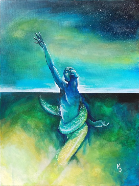 Tug of Tides | Original Painting by Miles Davis | Massive Burn Studios Art