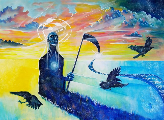 The Harvester | Original Painting by Miles Davis | Massive Burn Studios Art