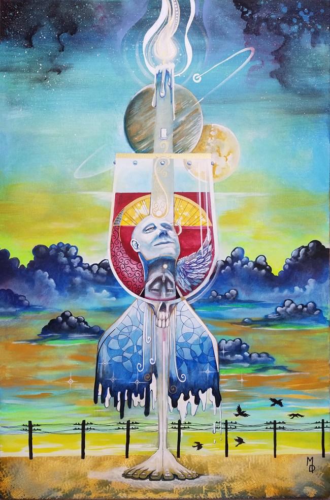 Eucharist | Original Artwork by Atlanta Pop-Surrealist Miles Davis | Massive Burn Studios