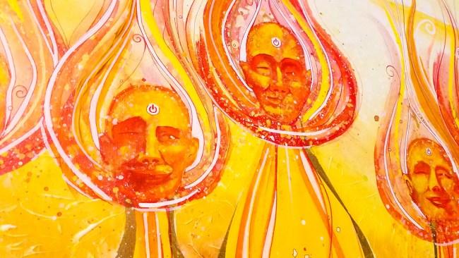 Detail of Anointed | Original Painting by Surrealist Miles Davis | Massive Burn Studios