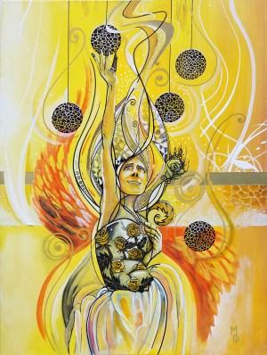 The Rising | Original Painting by Atlanta Pop-Surrealist Miles Davis | Massive Burn Studios