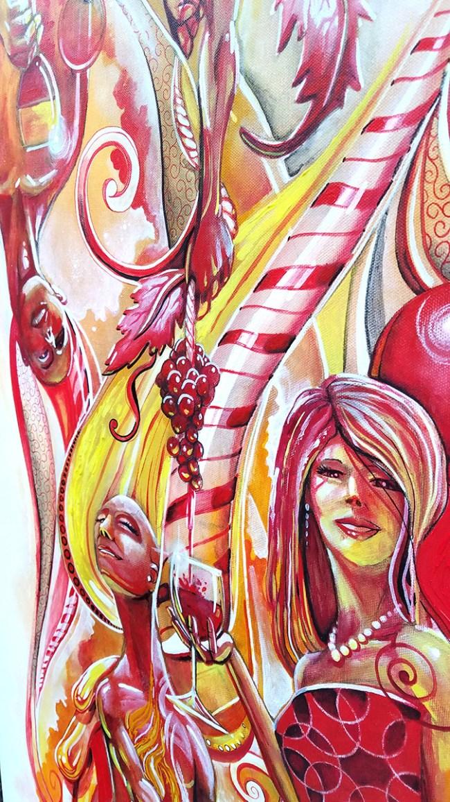 Detail Peppermint Nectar   Original Artwork by Miles Davis   Massive Burn Studios