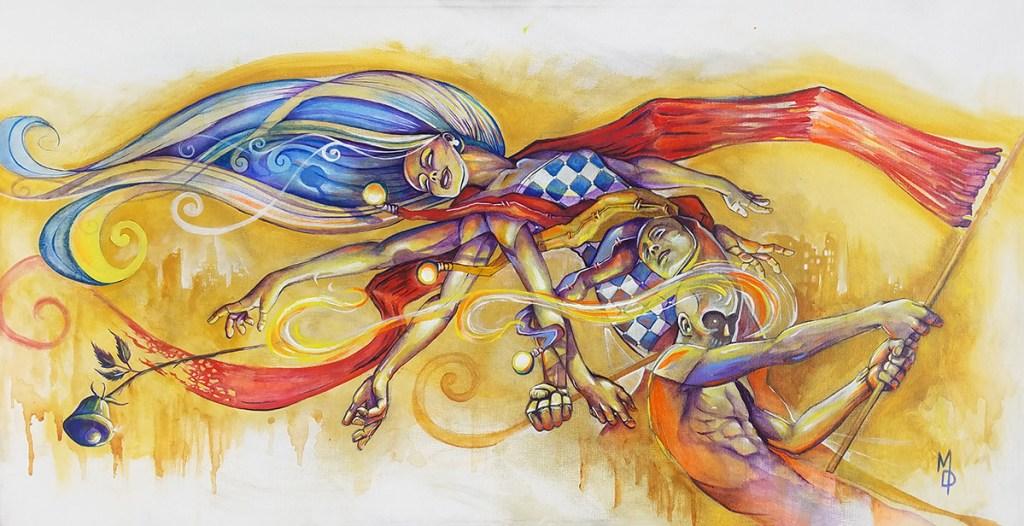 Spirit of Rebellion | Original Painting by Miles Davis | Massive Burn Studios