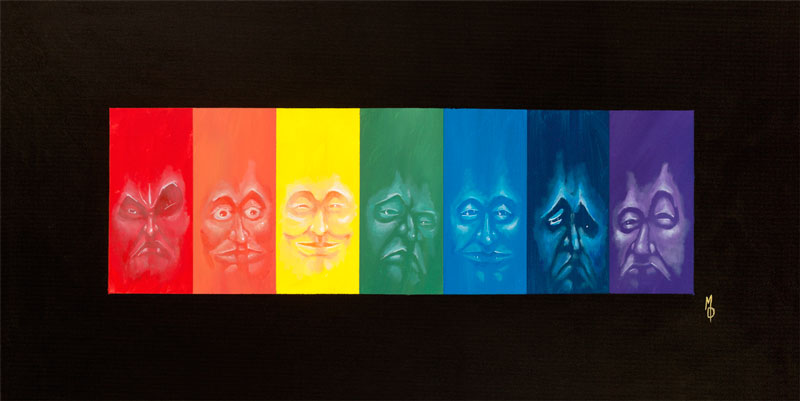 Spectral | Fine Art Painting by Neo Surrealist Painter Miles Davis | Massive Burn Studios