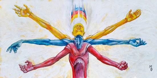 Pentimento Prima | Fine Art by Neo Surrealist Painter Miles Davis | Massive Burn Studios