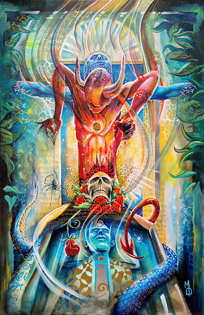 Atonement | Fine Art by Neo Surrealist Painter Miles Davis | Massive Burn Studios