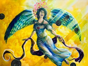 Ethereal Angel | Original Painting by Modern Surrealist Artist Miles Davis | Massive Burn Studios