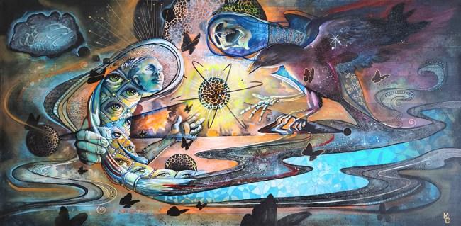 Mortality | Original Painting by Modern Surrealist Artist Miles Davis | Massive Burn Studios