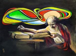 Wisdom One | Original Artwork by Modern Surreal Artist Miles Davis | Massive Burn Studios