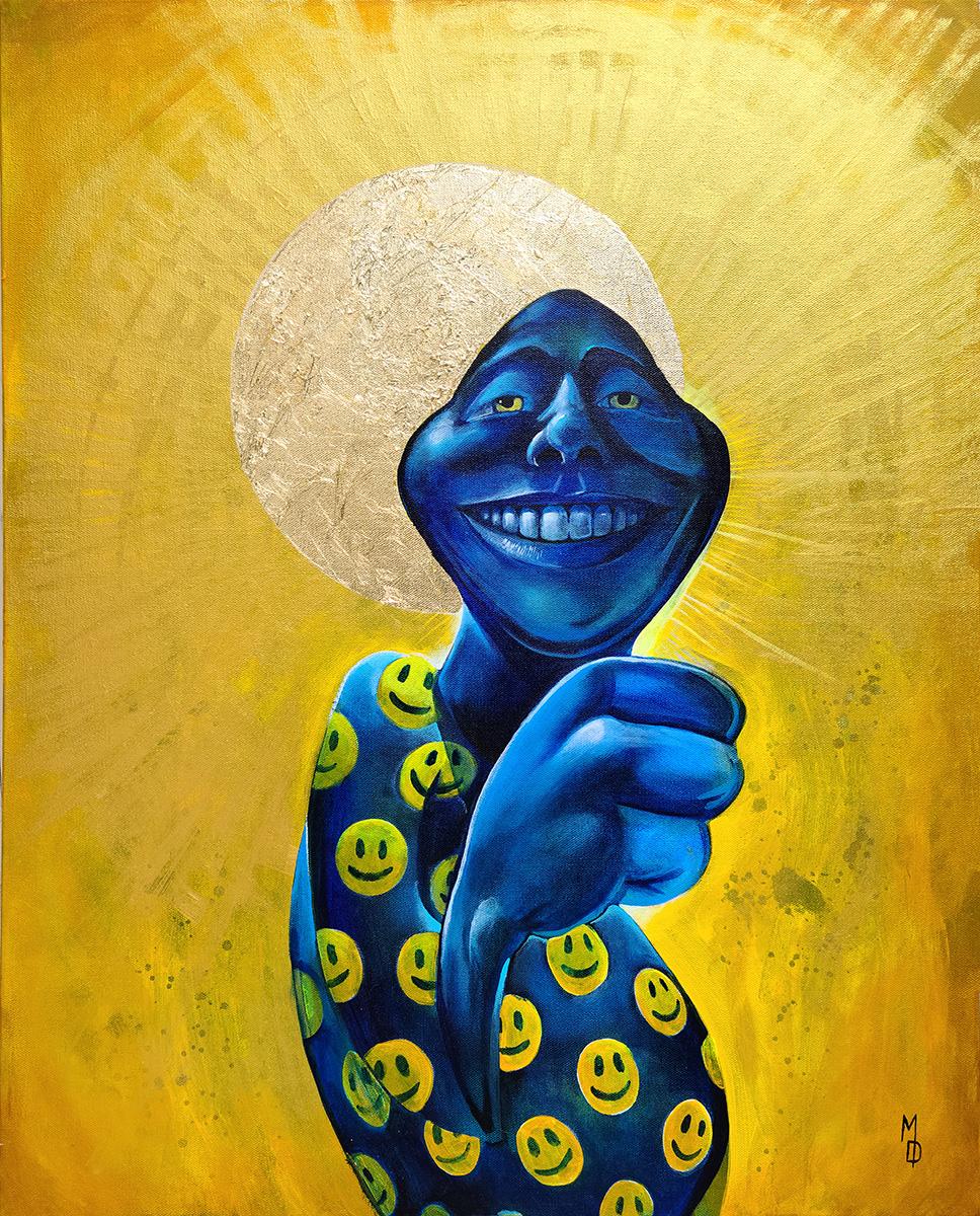 Feelin' Golden | Original Pop-Surrealism Artwork by Artist Miles Davis | Massive Burn Studios