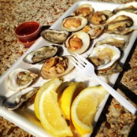 cherrystone clams, tuatua clams, various oysters