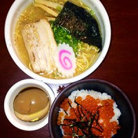 Shoyu Ramen with Ikura Rice