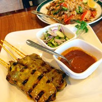 Beef Satay and Duck Fried Rice