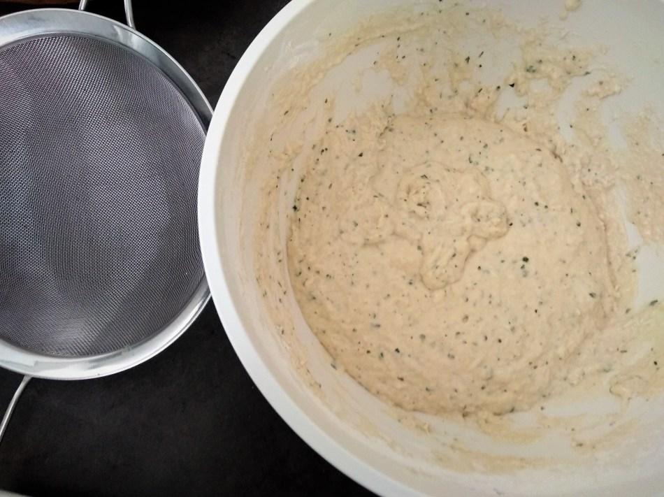 Teig für Kräuter-Nockerl