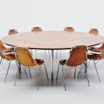 Large Round Conference Table Florence Knoll International 1960 Massmoderndesign