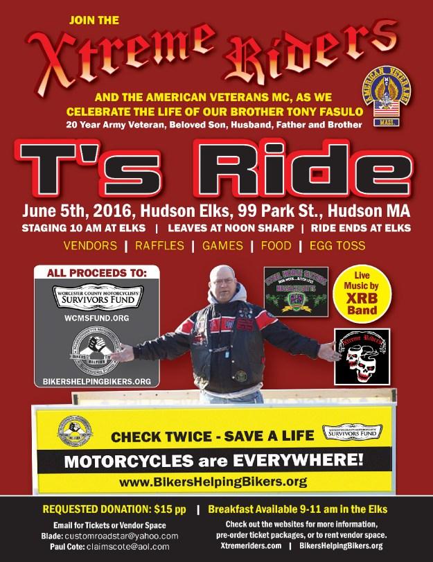 T's Ride 2016 Flyer