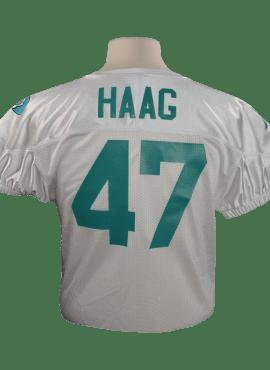 Adidas Alternate Youth Mesh Away Jersey- White/Teal- #47 Nick Haag