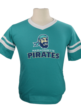 Pirates Primary Unisex Youth Shirt- Teal/White