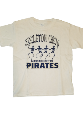 "Pirates ""Skeleton Crew"" Unisex Youth T-Shirt- White"